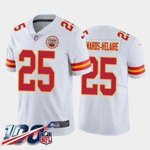 Chiefs Clyde Edwards-Helaire White Jersey